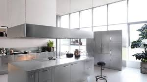 italian kitchen island adjustable bar stool all silver kitchen design metal kitchen