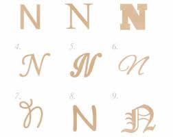 wooden letter n etsy