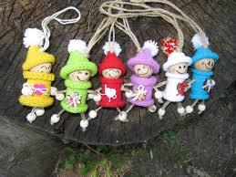 Wooden Toy Christmas Tree Decorations - home decor christmas fairies ornaments dwarfs christmas