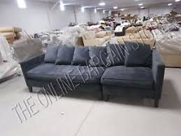 West Elm Sectional Sofa Pottery Barn West Elm Dunham Toss Back Sectional Sofa Chair Velvet