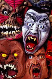 scary halloween masks photograph by garry