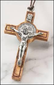 st benedict crucifix olive wood st benedict cross devotional items