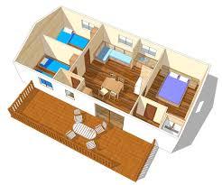 les 3 chambres mobil home villa 5 6 3 chambres tv cing est