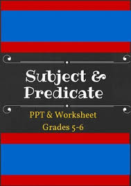 subject u0026 predicate worksheets and junior high english
