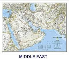 east political map national geographic middle east political map 34x23