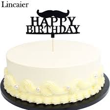 in cake toppers lincaier black moustache glitter paper letters happy birthday cake
