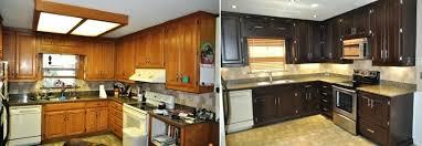 Modernizing Oak Kitchen Cabinets Updating Oak Kitchen Cabinets Before And After Staining Kitchen