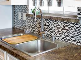 make a renter friendly removable diy kitchen backsplash hgtv
