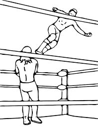 pretty boy jay pro wrestler online coloring page wrestling