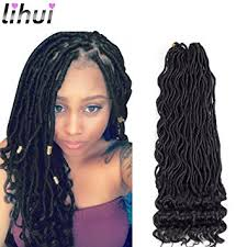 hair goddess lihui 6pcs lot goddess faux locs curly faux locs