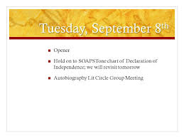 Soapstone English Template Ap English 3 September 8 Th Through 11 Th Tuesday September 8 Th