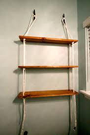 Diy Ladder Shelf Shelves Tutorials by Diy Nautical Shelving Tutorial For The 100 Room Challenge