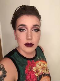 edward scissorhands if he were picked up by a drag queen instead