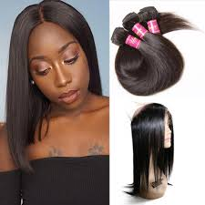 short hairstyles with closures unice 3 bundles straight human virgin hair with 360 lace frontal