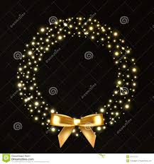 wreath from gold lights stock photos image 35113733