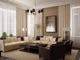 brown living room curtains white trees black flooring the wall