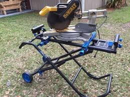 dewalt chop saw table dewalt 12 compound miter saw setting on a delta rolling miter saw