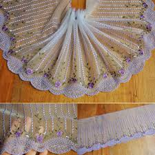 tulle wholesale wholesale lot 5 yards delicate flower embroidered flower tulle