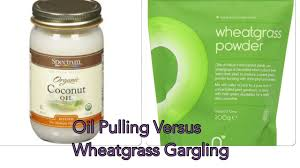 Oil Pulling Before Bed Oil Pulling Versus Wheatgrass Gargling Youtube