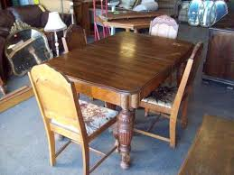 deal of the day 8 6 17 antique dining table 4 chairs 19489 was