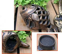 metal fish ring holder images Zhenwen retro finishing metal fish candle holders height 26cm in jpg