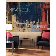 new york streets giant prepasted wallpaper accent mural obedding com