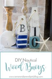 Diy Nautical Decor Diy Nautical Wood Buoys Sense U0026 Serendipity Summer Decor