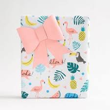 tropical wrapping paper tropical icons wrapping paper paper source