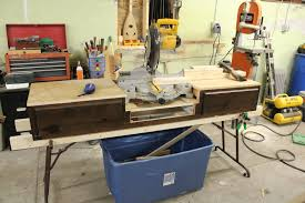 Wood Saw Table Sleepydog U0027s Wood Shop Miter Saw Stand From A Water Bed