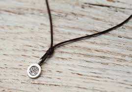 necklace cord images Prasada jewelry mini unisex om pendant necklace brown cord jpg