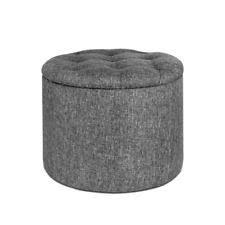 Ottomans Ebay Grey Fabric Ottomans Ebay