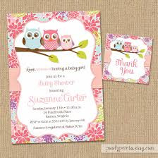 owl themed baby shower invitation template choice image