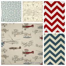 Denim Crib Bedding 4 Crib Bedding Set In Vintage Airplanes Including Colors