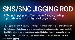 light up fishing pole sniper 1 8meters light slow jigging casting spinning lure carbon sea