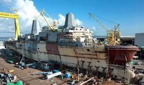uss arlington lpd 24 under construction at ingalls shipbuilding