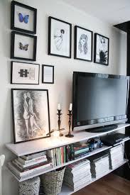 tv wall decor picture design ideas kitchen top best bookshelves on