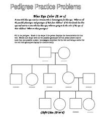 Pedigree Chart For Color Blindness Eye Color Pedigree Worksheet By Jason Demers Teachers Pay Teachers
