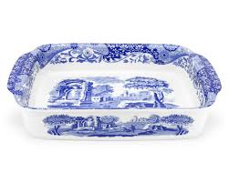 spode blue italian large rectangular baking dish spode uk