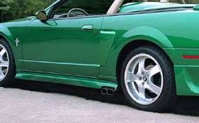 99 04 mustang exhaust 99 04 mustang razzi side exhaust r 21 side skirts abs aero