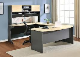 Corner Desk Office Furniture Furniture Modern L Shaped Charcoal Grey Corner Computer Desk With