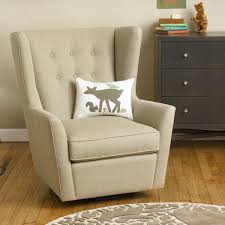 Plaid Chair And Ottoman by Furniture Comfortable Beige Glider Chair With Beige Ottoman And