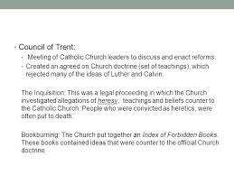 Council Of Trent Reforms The Reformation Continues Ppt