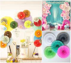 paper fan decorations 6pcs 12 30cm green paper fan folding paper crafts for