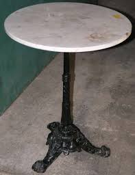 antique marble bistro table early 1900 s french bistro table with marble top see more antique