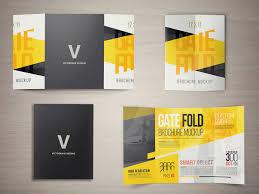 gate fold brochure template 17 x 11 gate fold brochure mockup on behance
