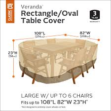 Patio Furniture Foot Pads by Classic Accessories Veranda Oval Rectangular Patio Table U0026 Chair