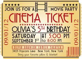 movie ticket birthday invitations ideas u2013 bagvania free printable