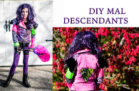 party city halloween descendants disney descendants mal u0027s costume full diy tutorial youtube