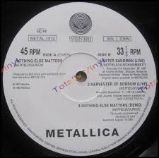 totally vinyl records metallica nothing else matters enter