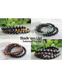 mens bracelet beads images Amazing deal personalized 3pc mens bracelet set customized